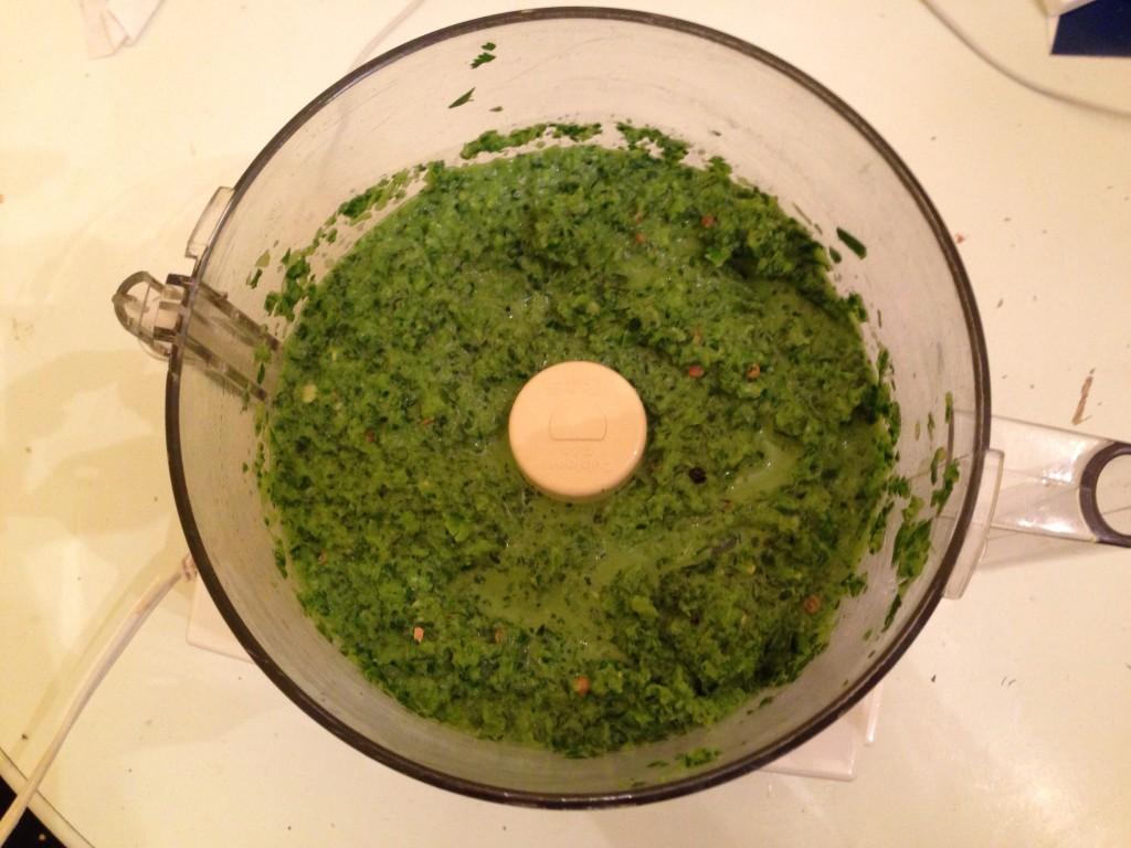 green sauce in cuisinart