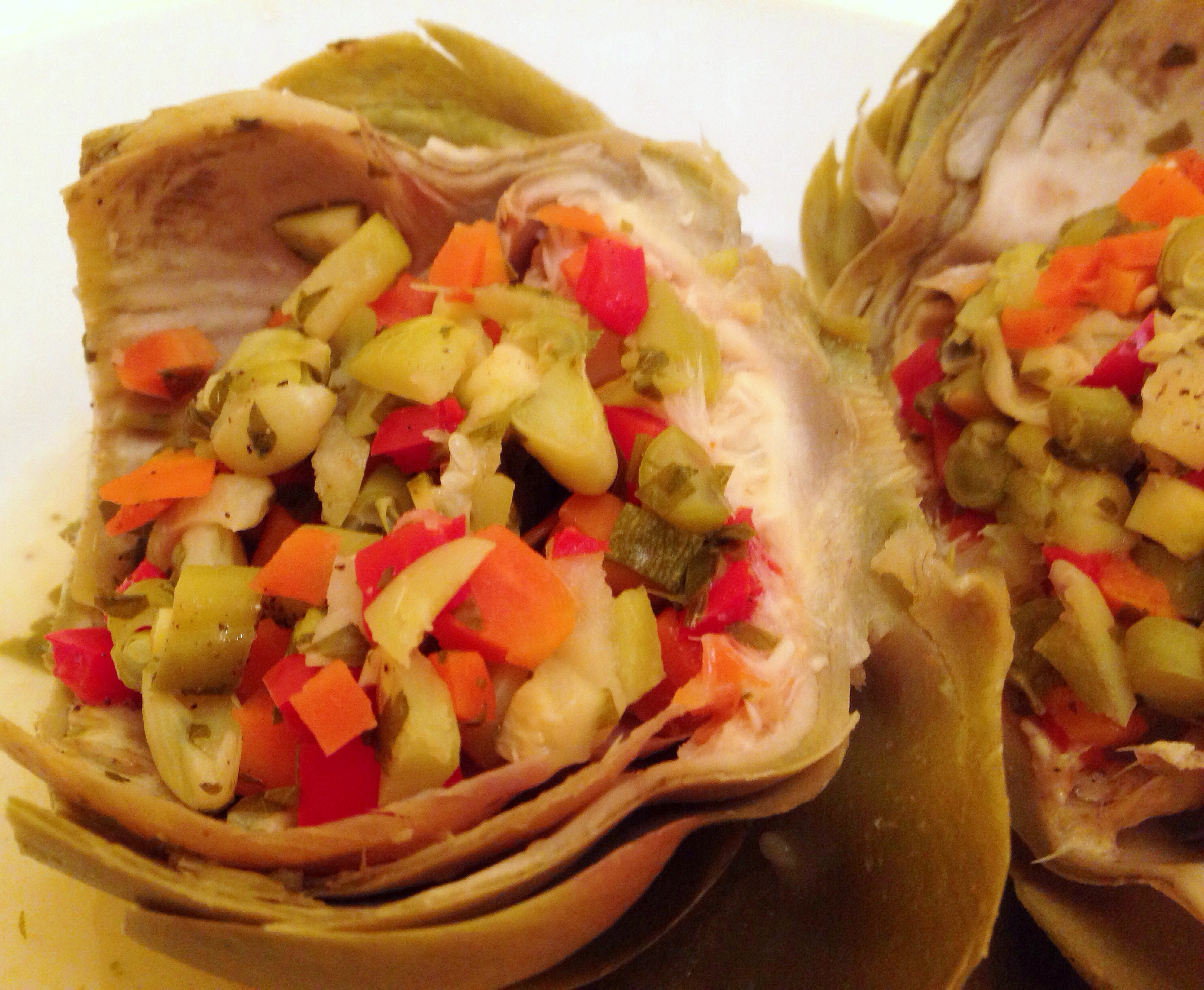 vegetable stuffed artichokes