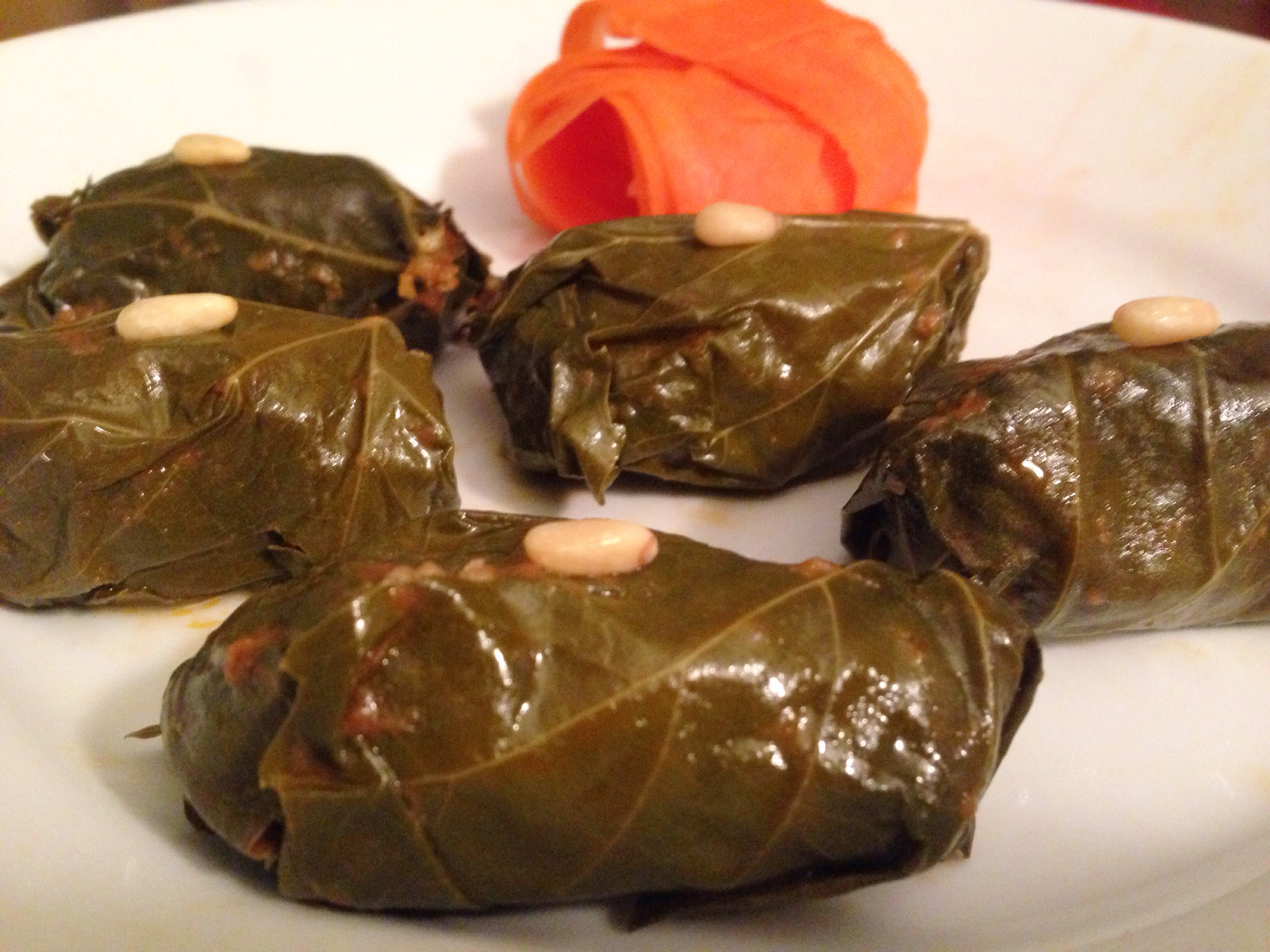 Meat-Stuffed Grape Leaves Dolmas