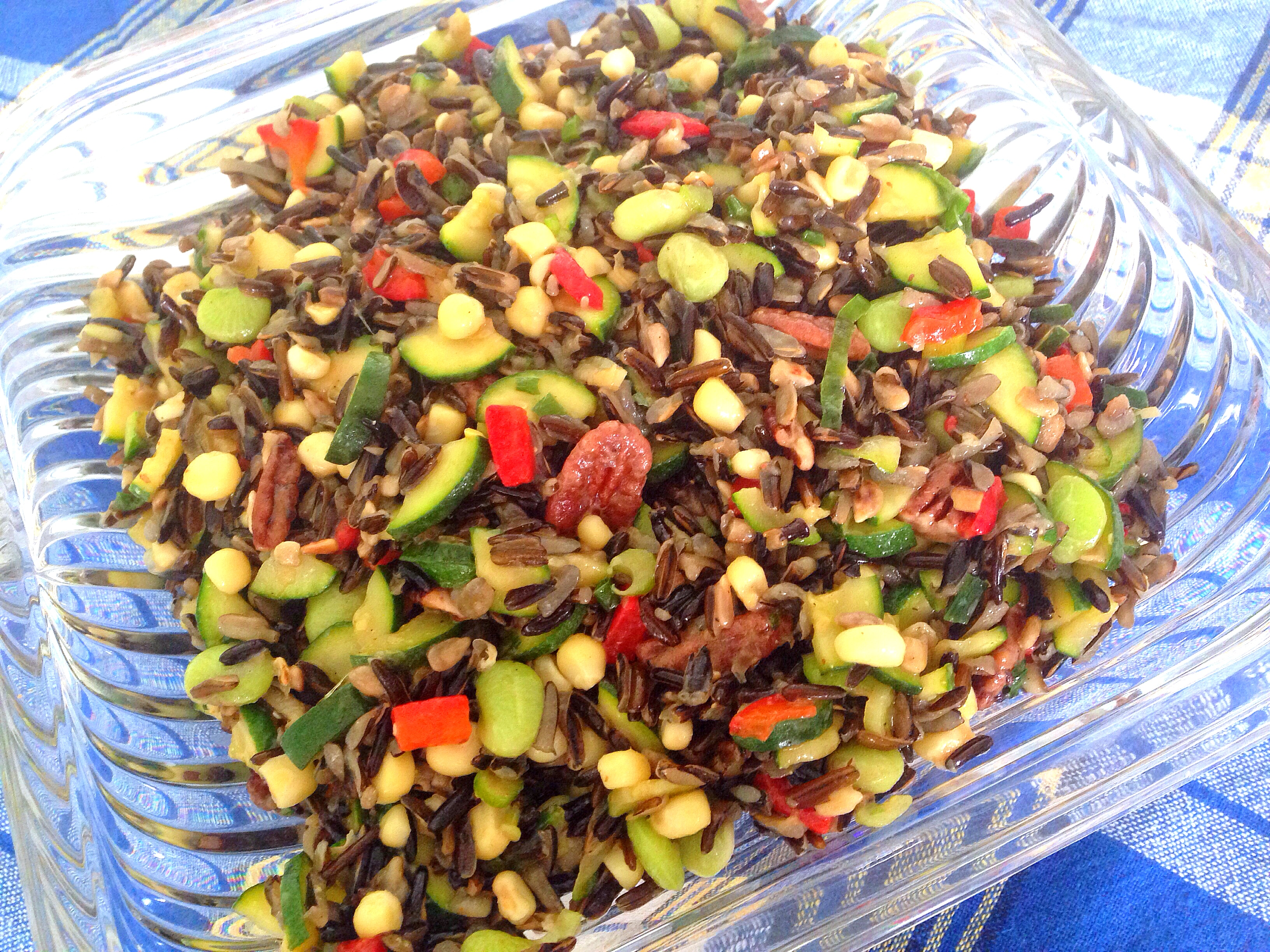 Wild Rice Salad with Zucchini and Pecans | Hellbent Living