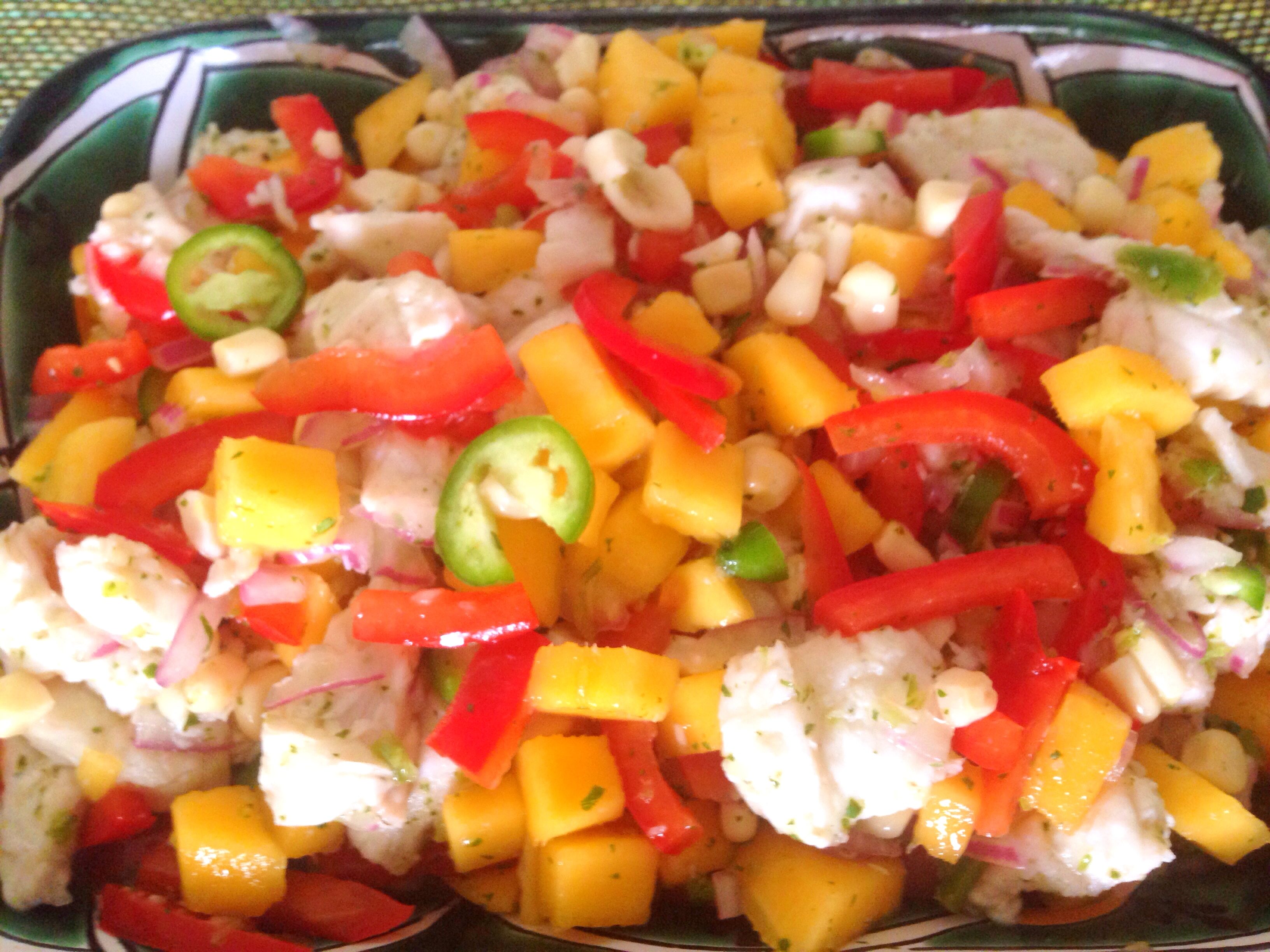 ceviche with mango