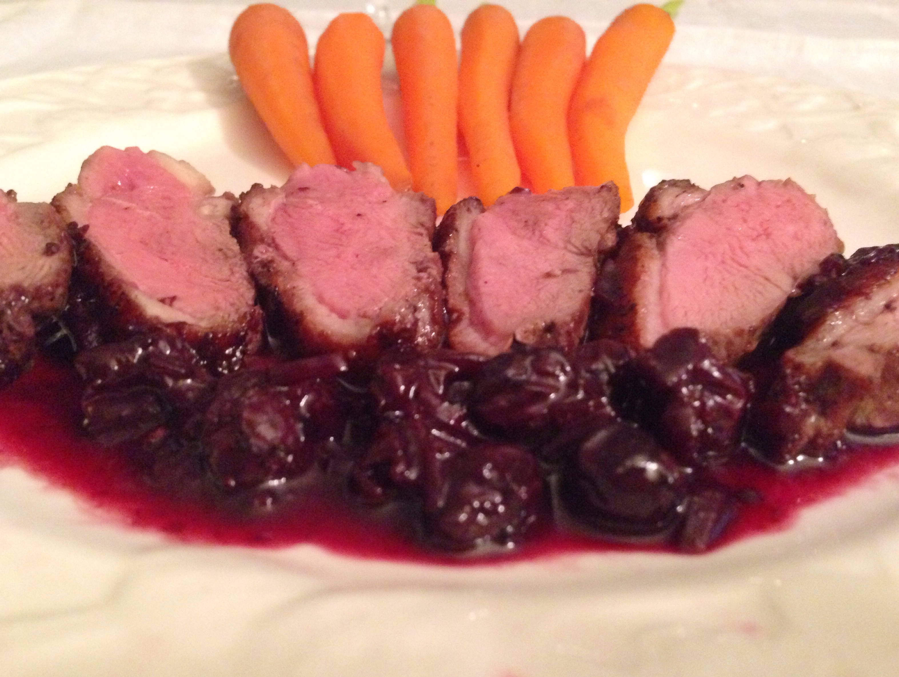 duck with blueberry port