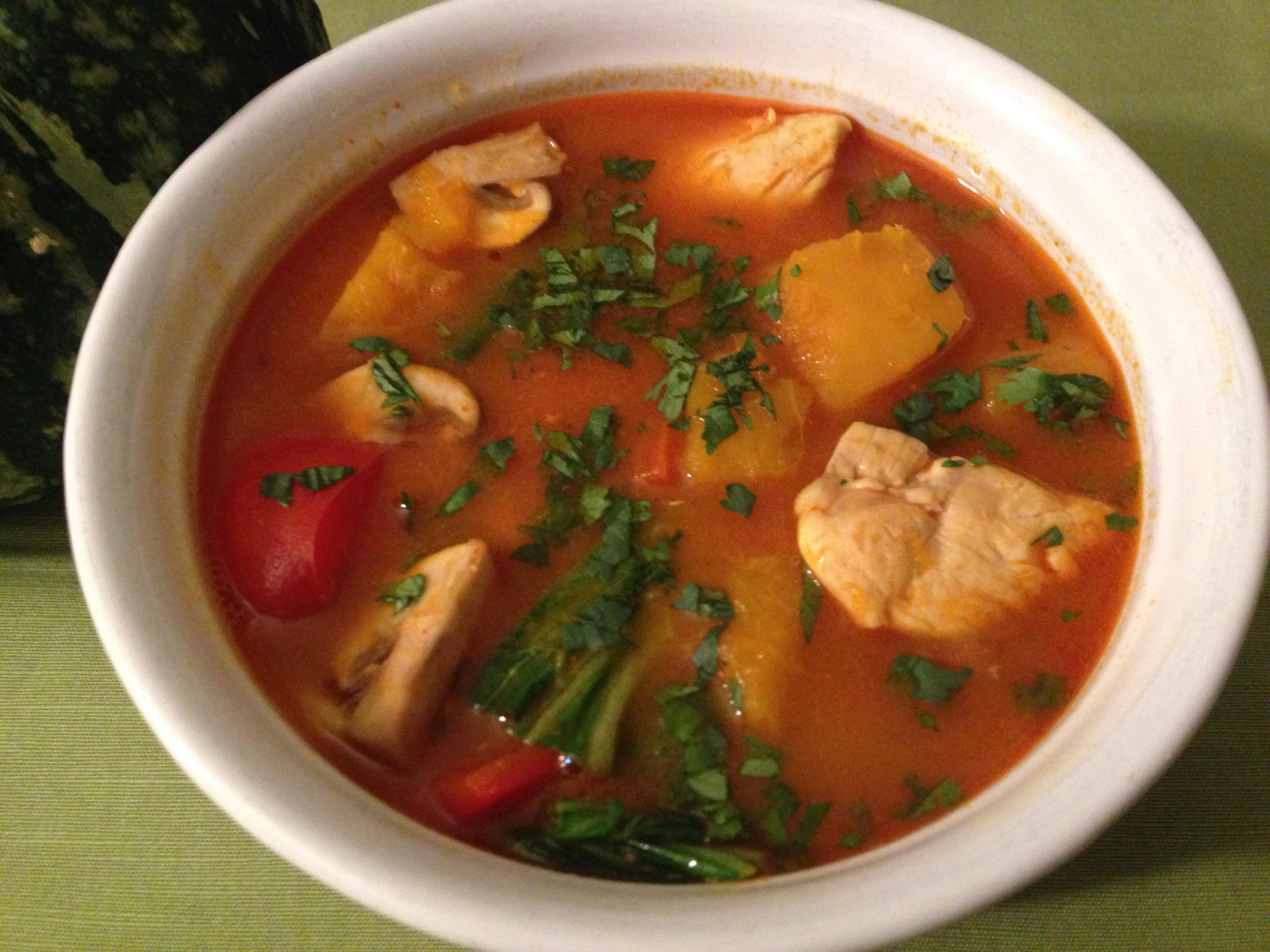 Kabocha Pumpkin Curry With Chicken