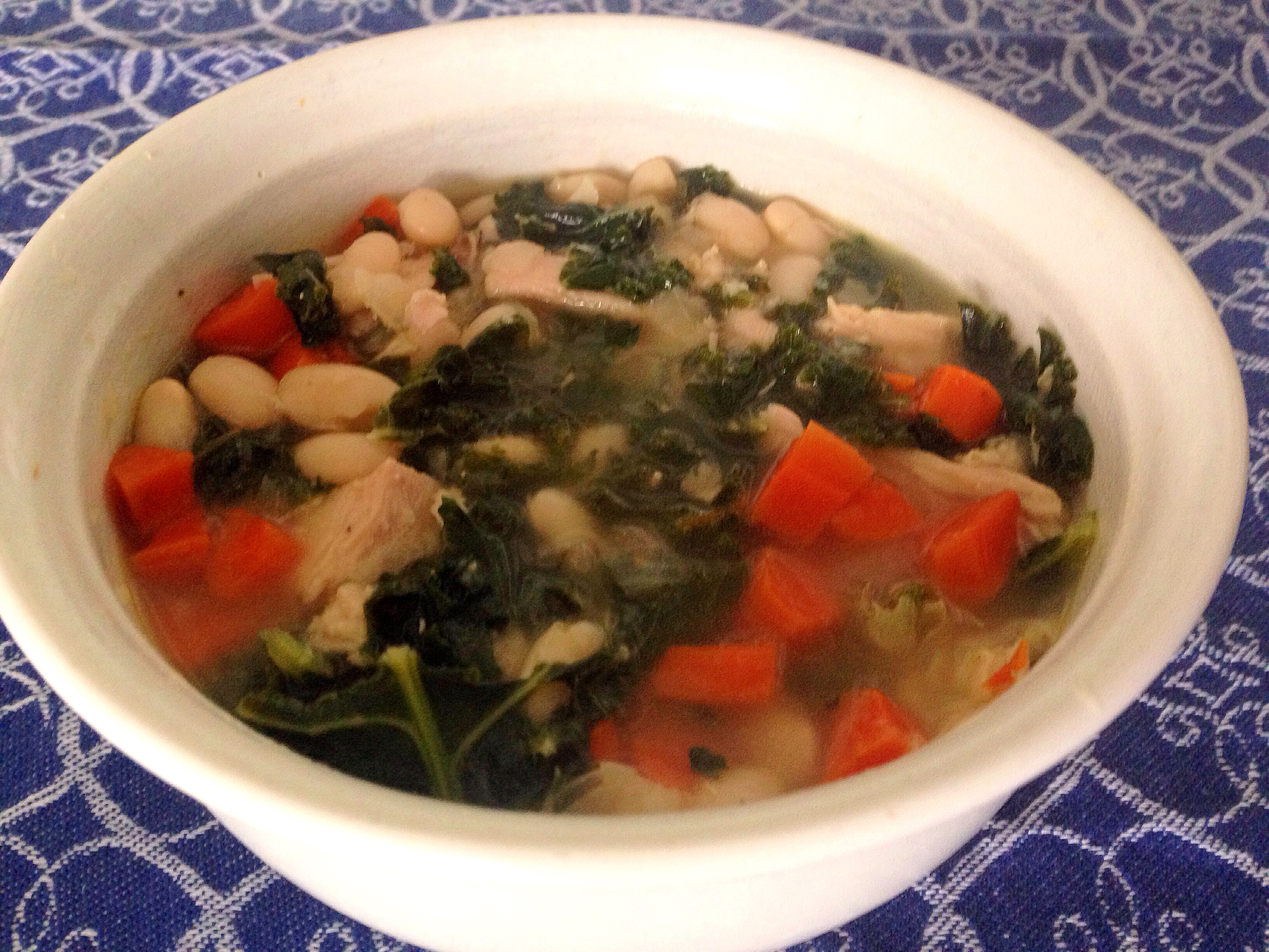Turkey-White Bean Soup with Kale