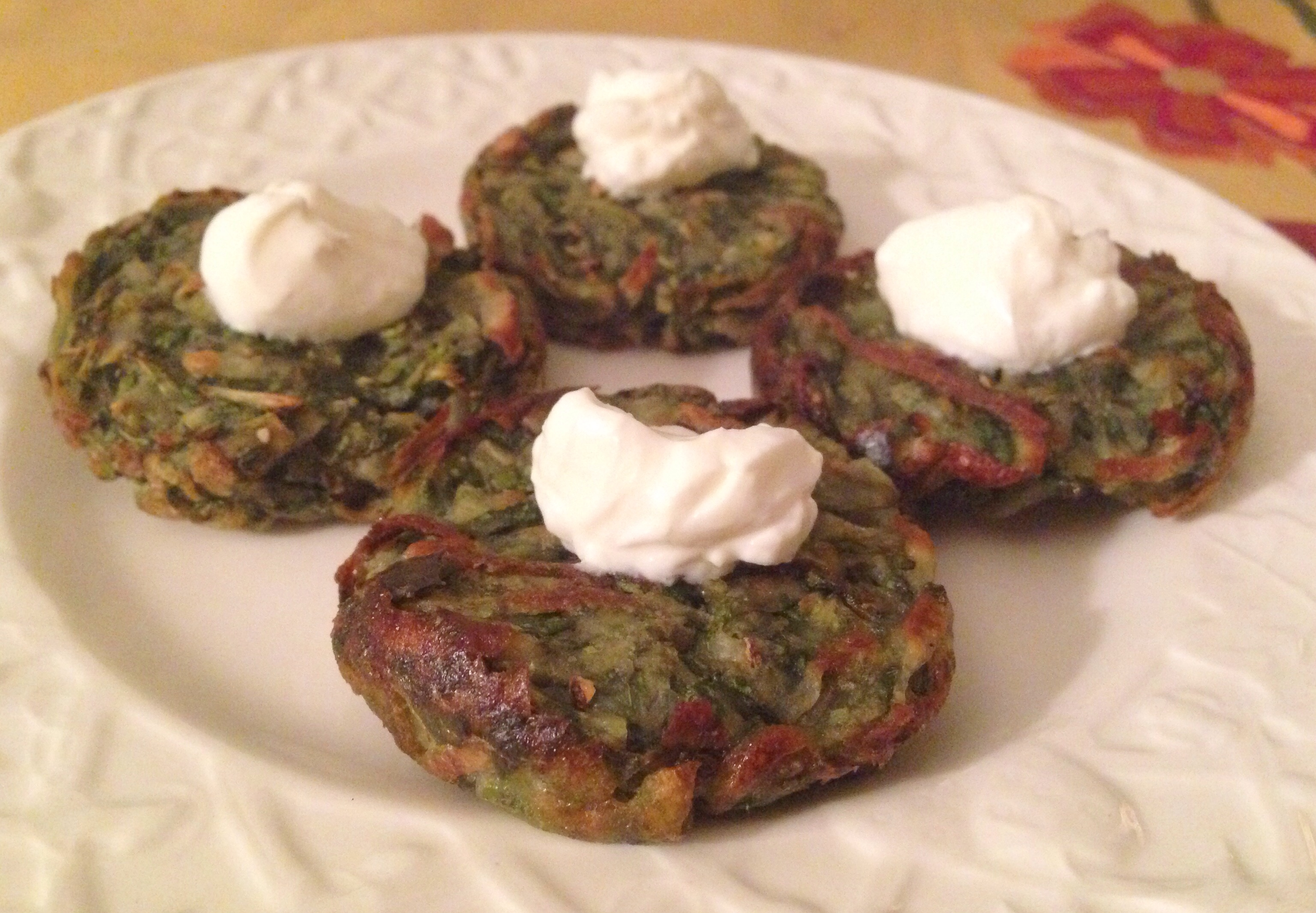 Baked Potato Pancakes with Chard